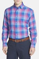 Robert Talbott Anderson Check Linen Classic Fit Sport Shirt