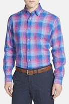 Robert Talbott 'Anderson' Classic Fit Check Linen Sport Shirt