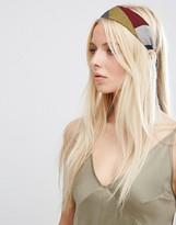 Asos Color Block Headband With Tie