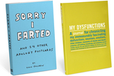Knock Knock 'Sorry I Farted' Apology Postcards & 'My Dysfunctions' Journal