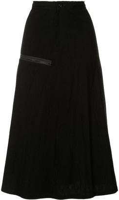 Y's zip detail A-line skirt