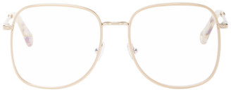 Chloé Pink Metal Square Glasses