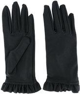 Balenciaga frill-hem gloves
