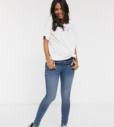 Urban Bliss Maternity high waisted skinny jeans in blue
