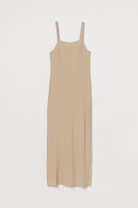 H&M Lyocell-blend ribbed dress