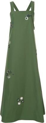 Tory Burch Floral Mirror Applique Dress