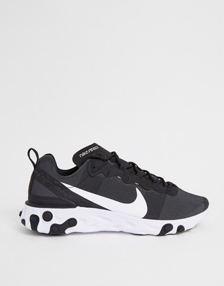 Nike Black And White React Element 55 Sneakers