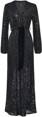 Pinko Sequined Wrap Maxi Dress