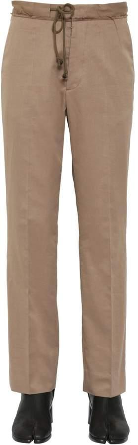 Maison Margiela 22cm Wool Cotton Gabardine Pants