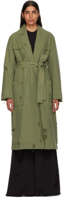 alexanderwang.t Green Pajama Utility Trench Coat