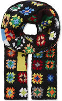 Jw Anderson Crochet Knitted Scarf