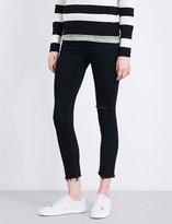 Rag & Bone Frayed-cuffs skinny mid-rise jeans