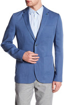 Ted Baker Topstitched Two Button Notch Lapel Sport Coat