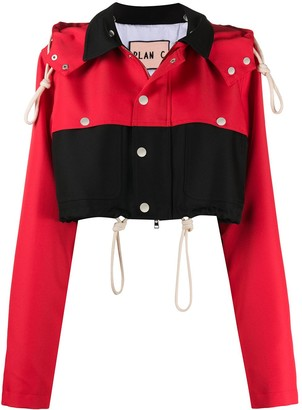 Plan C Cropped Hooded Jacket