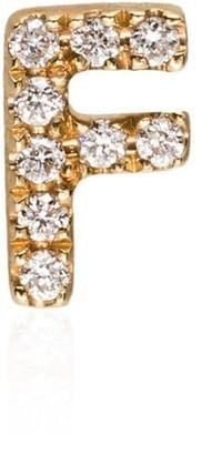 Loquet 18kt yellow gold F diamond letter charm