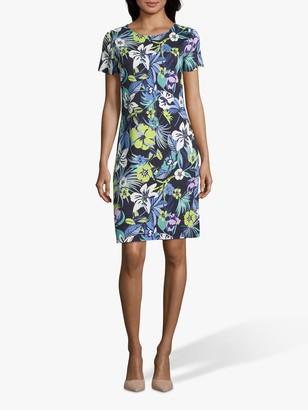 Betty Barclay Floral Jersey Dress, Dark Blue/Green