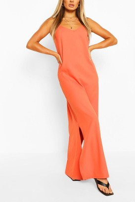 boohoo Plunge Back Strappy Maxi Dress
