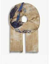 Eton Painted Circle Wool-blend Scarf