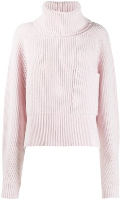 Ssheena Patch Pocket Cable Knit Jumper