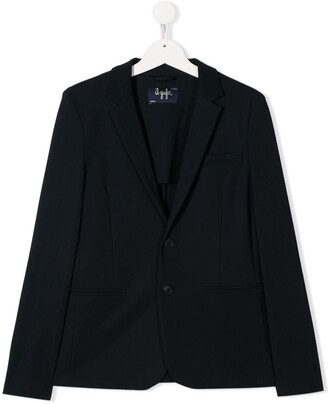Il Gufo V-neck back slit blazer jacket