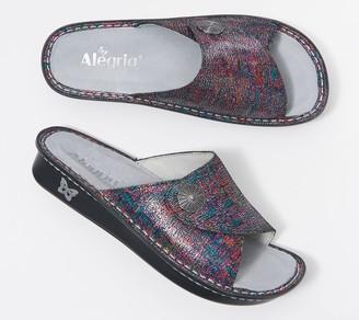 Alegria Leather Adjustable Slide Sandals - Vivica