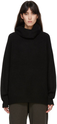 Frenckenberger Black Cashmere Boyfriend Turtleneck