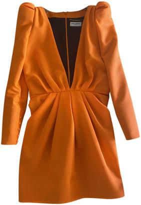Saint Laurent Orange Synthetic Dresses