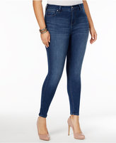 Celebrity Pink Trendy Plus Size High-Waist Skinny Jeans