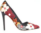 Alice + Olivia Dina Flower Embroidered Heel