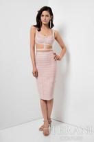 Terani Evening - Two-Piece Stylish Ribbed Cutout Cocktail Dress 1711C3044