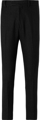 Amiri Slim-Fit Silk Twill-Trimmed Metallic Wool-Blend Boucle Trousers