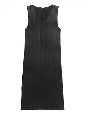 Pleats Please Black Polyester Dresses