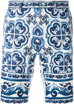 Dolce & Gabbana paisley printed shorts - men - Cotton/Spandex/Elastane - 46