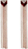GUESS Fringe Linear Drop Earrings with Faux Tortoise Accents