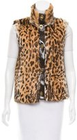 Tory Burch Printed Fur Vest