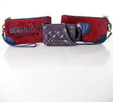 Juicy Couture Lot 3 Red Blue Purple Wristlet Crossbody Shoulder Handbags