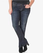 Silver Jeans Plus Size Elyse Indigo Wash Straight-Leg Jeans