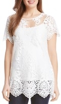 Karen Kane Embroidered Lace Tee