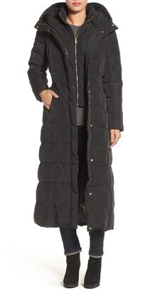 Cole Haan Water Repellent Quilted Coat with Inner Bib