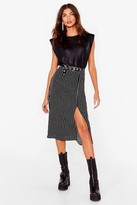Thumbnail for your product : Nasty Gal Womens Relaxed Star Print Slit Midi Skirt - Black - 12