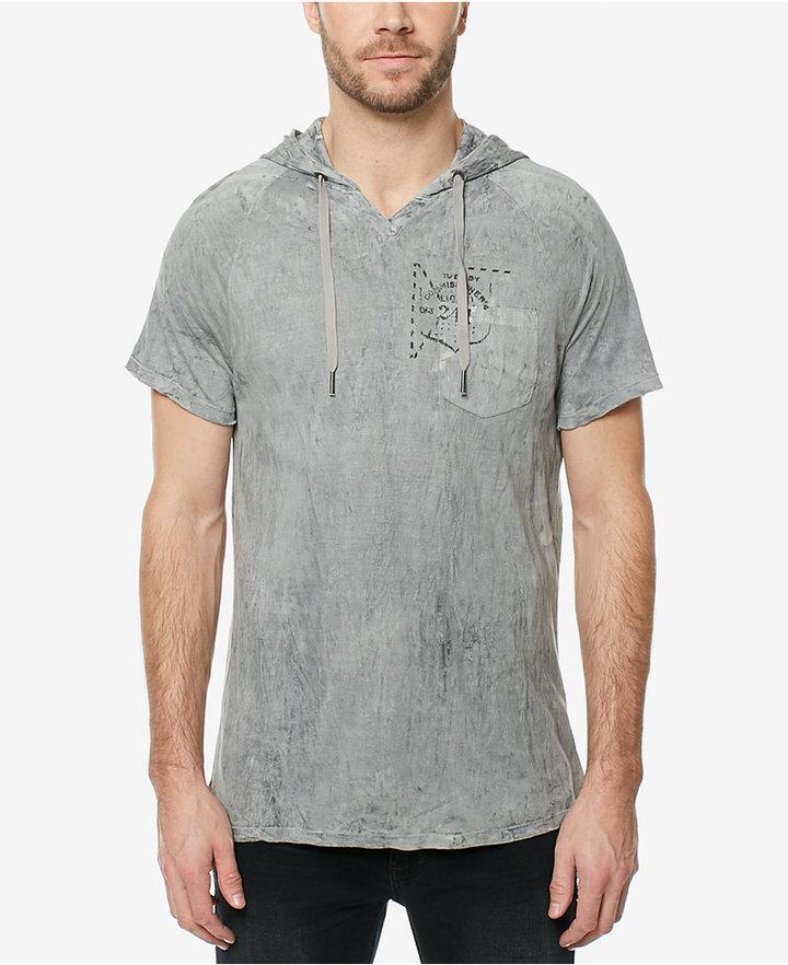 Buffalo David Bitton Men's Deconstructed Hooded T-Shirt