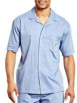 Nautica Short-Sleeve Button-Down Pajama Top