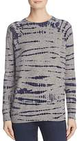 Aqua Cashmere Tie-Dye Crewneck Sweater - 100% Exclusive