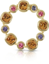 Forzieri Purple, Pink and Orange Crystals Bracelet