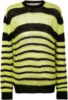 McQ by Alexander McQueen striped jumper - men - Polyamide/Cashmere/Wool/Kid Mohair - S