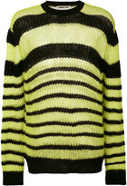 McQ by Alexander McQueen striped jumper - men - Wool/Kid Mohair/Cashmere/Polyamide - S