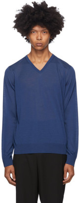 Giorgio Armani Blue Wool Sweater