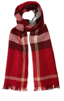 Burberry Checked wool and cashmere-blend scarf