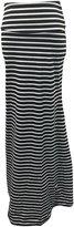 Chouyatou Women's Basic Rayon d Fold-Over Floor Length Maxi Skirt