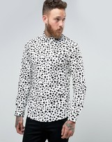Religion Smart Shirt With Heart Print In Skinny Fit